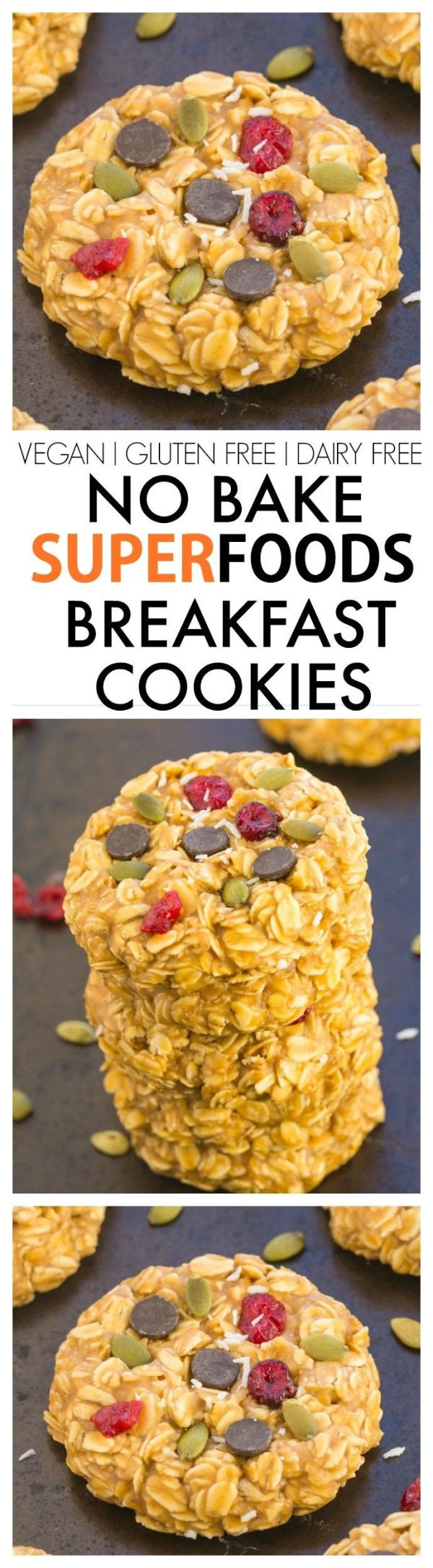 Gluten Free Dairy Free No Bake Cookies  Healthy No Bake Superfoods detox Breakfast Cookies
