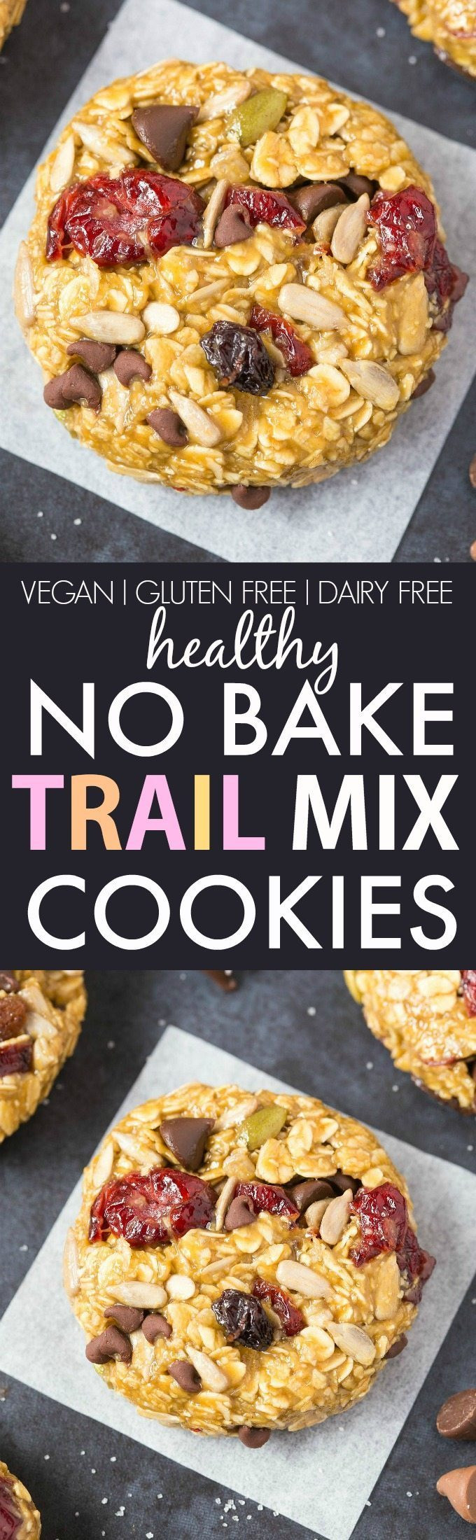 Gluten Free Dairy Free No Bake Cookies  Healthy No Bake Trail Mix Cookies Vegan Gluten Free