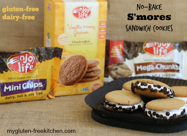 Gluten Free Dairy Free No Bake Cookies  S mores Sandwich Cookies Gluten free dairy free