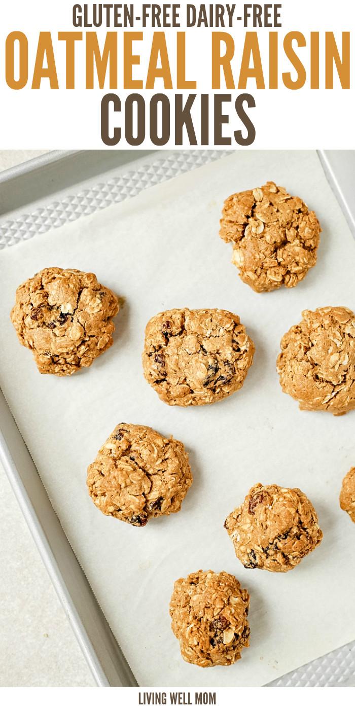Gluten Free Dairy Free Oatmeal Cookies  Gluten Free Dairy Free Oatmeal Raisin Cookies
