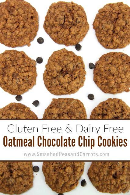 Gluten Free Dairy Free Oatmeal Cookies  Gluten Free and Dairy Free Oatmeal Chocolate Chip Cookie