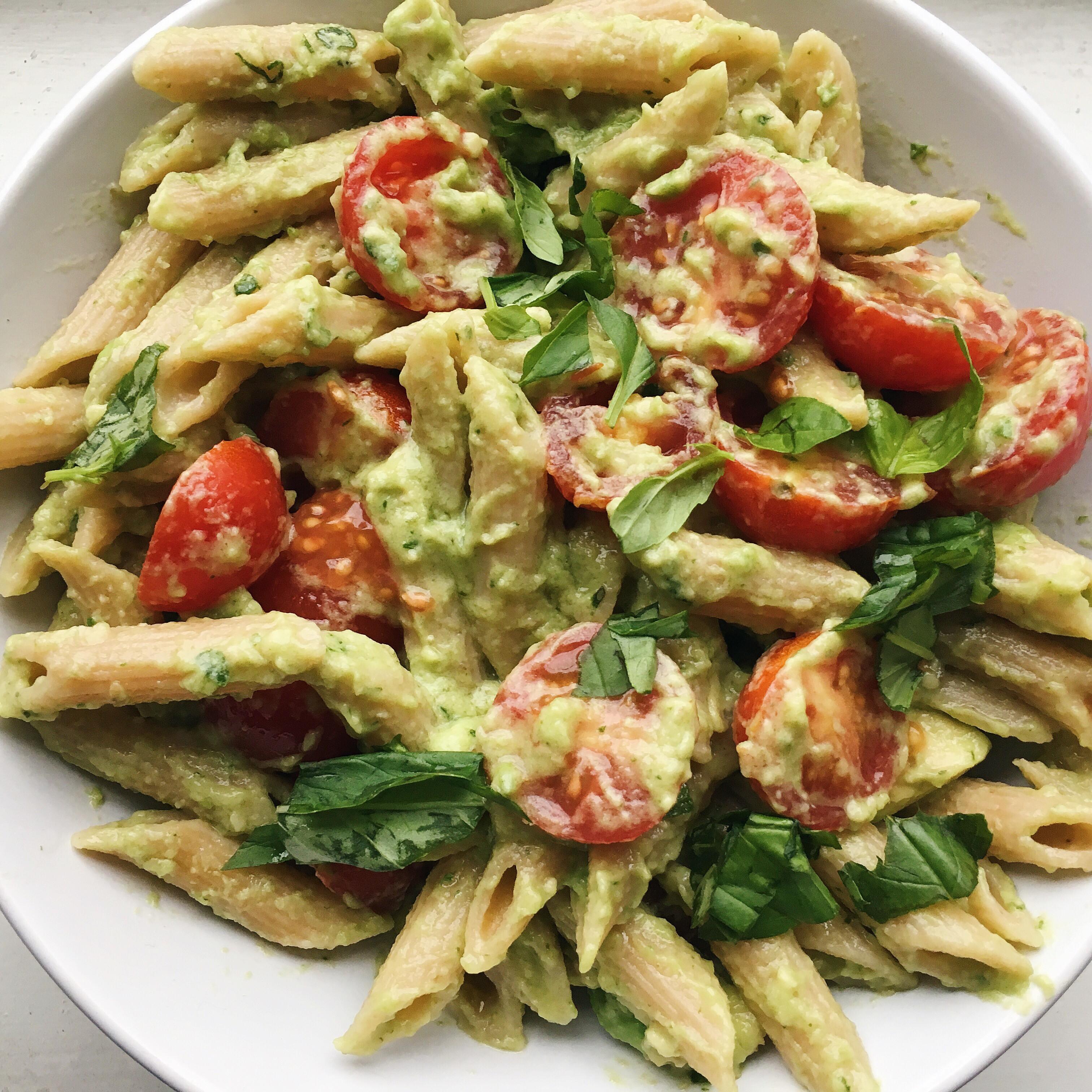 Gluten Free Dairy Free Pasta Recipes  Quick and Easy Basil Avocado Pasta