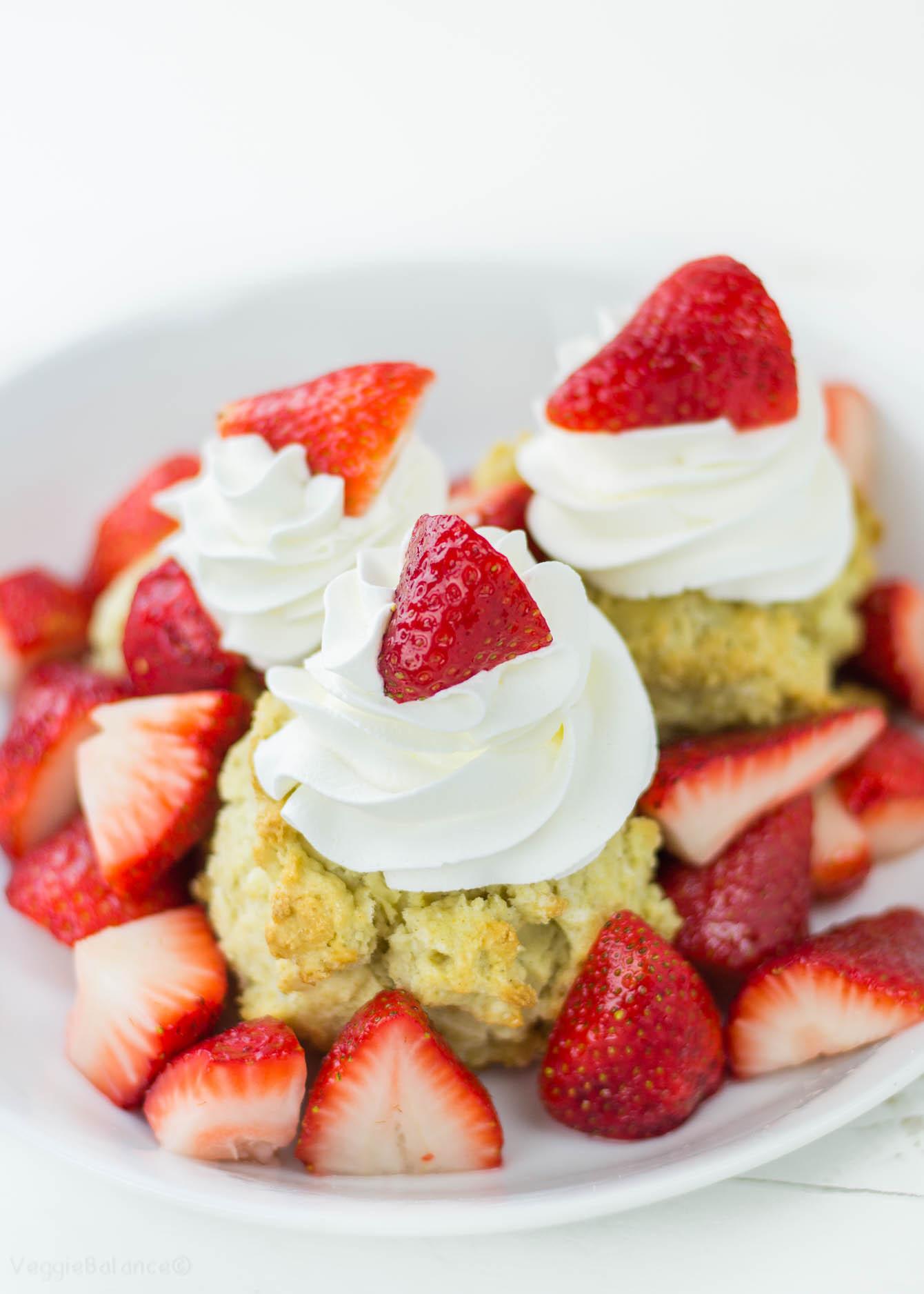 Gluten Free Dairy Free Strawberry Shortcake  Gluten Free Strawberry Shortcake Cookbook Release