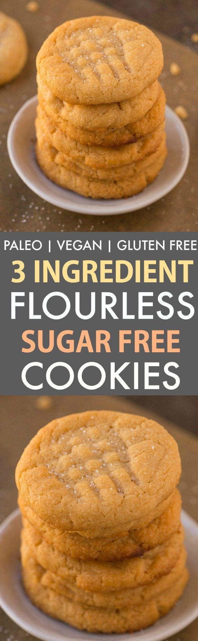 Gluten Free Dairy Free Sugar Free Cookies  3 Ingre nt Sugar Free Flourless Cookies Paleo Vegan