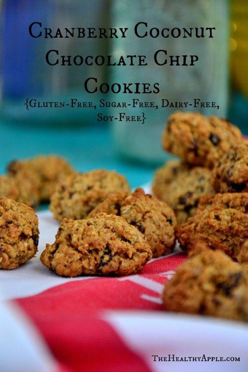 Gluten Free Dairy Free Sugar Free Cookies  Cranberry Coconut Chocolate Chip Cookies Gluten Free