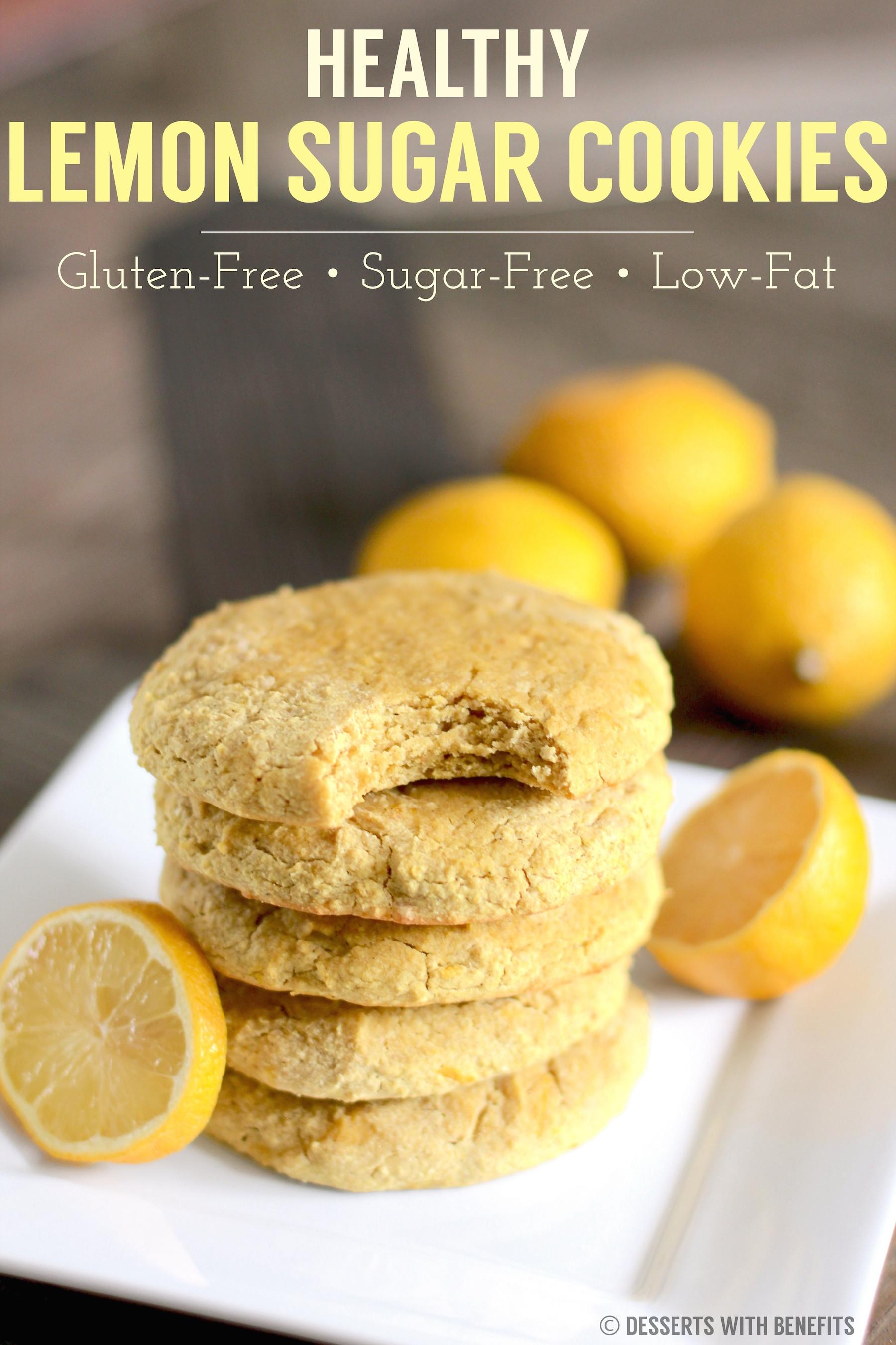 Gluten Free Dairy Free Sugar Free Dessert Recipes  Healthy Gluten Free Lemon Sugar Cookies Recipe