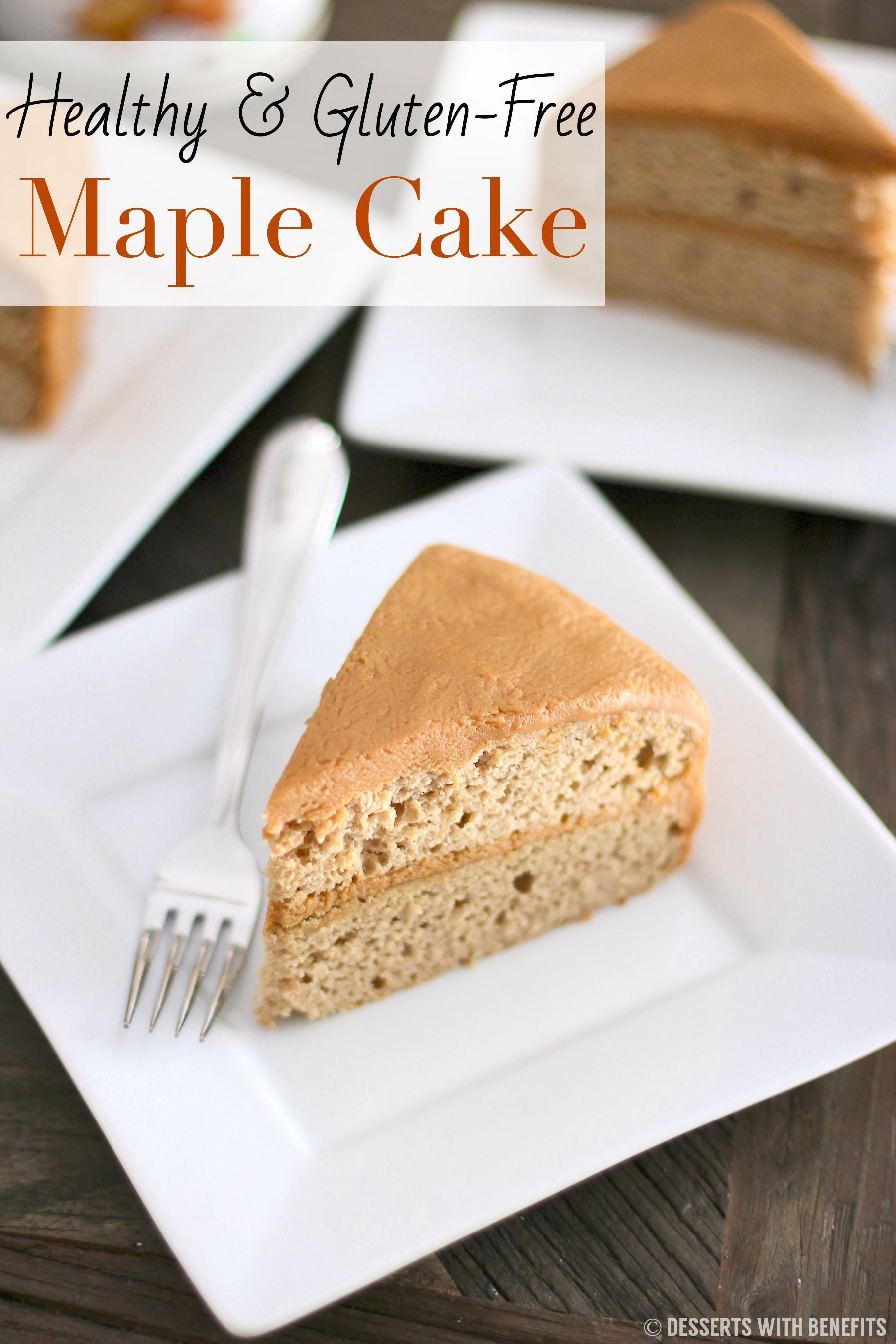 Gluten Free Dairy Free Sugar Free Dessert Recipes  Healthy Gluten Free Maple Cake Recipe