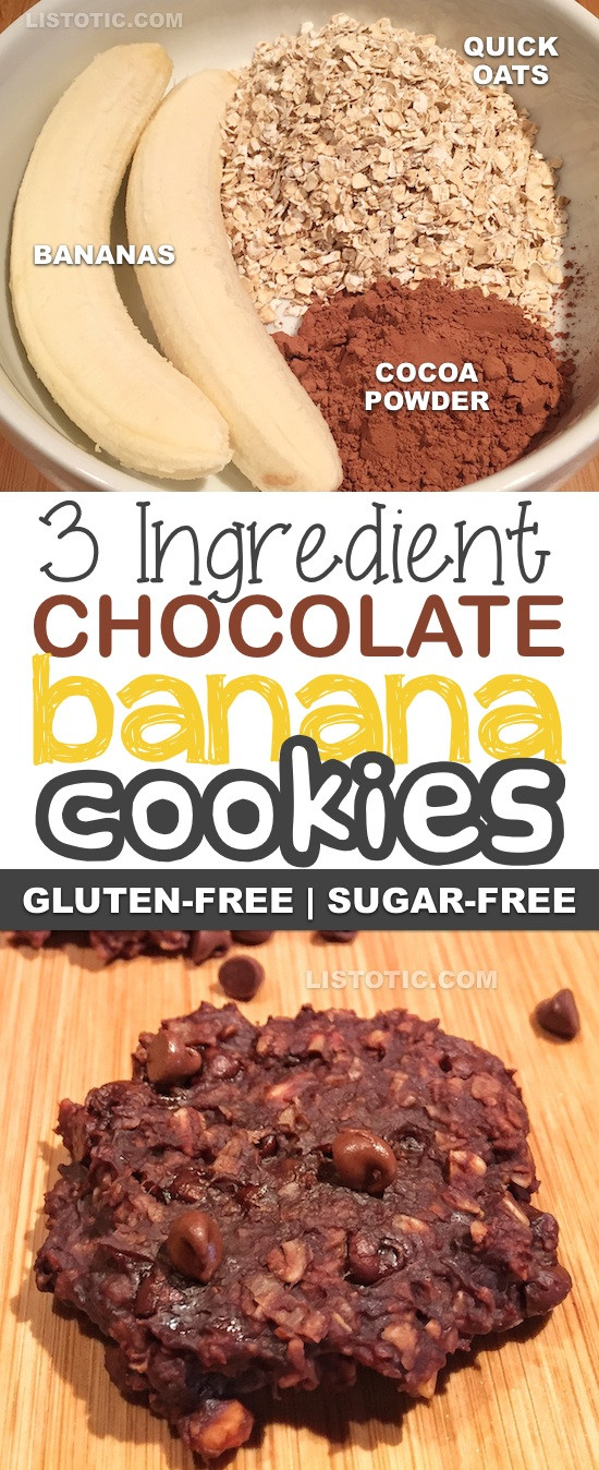 Gluten Free Dessert Recipes With Normal Ingredients  3 Ingre nt Healthy Chocolate Cookie Recipe the perfect