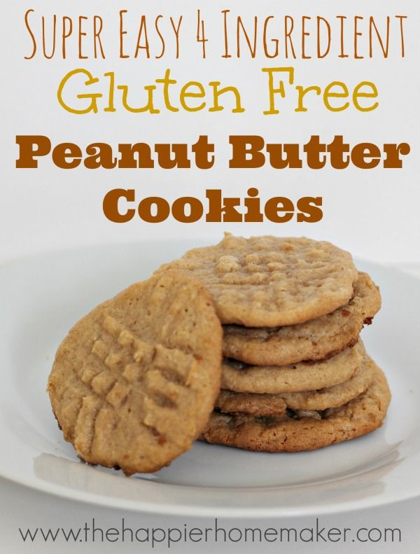 Gluten Free Dessert Recipes With Normal Ingredients  Easy 4 Ingre nt Gluten Free Peanut Butter Cookie recipe