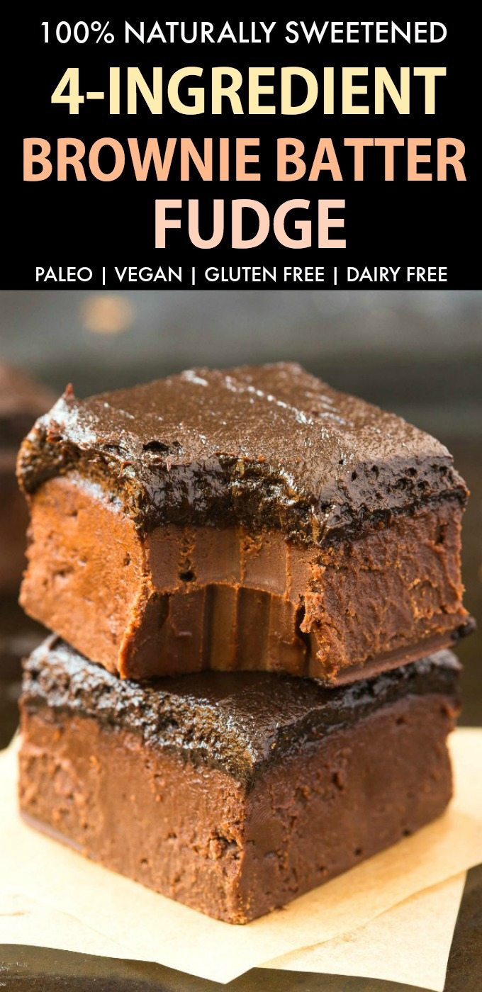Gluten Free Dessert Recipes With Normal Ingredients  Healthy Brownie Batter Fudge Paleo Vegan Naturally