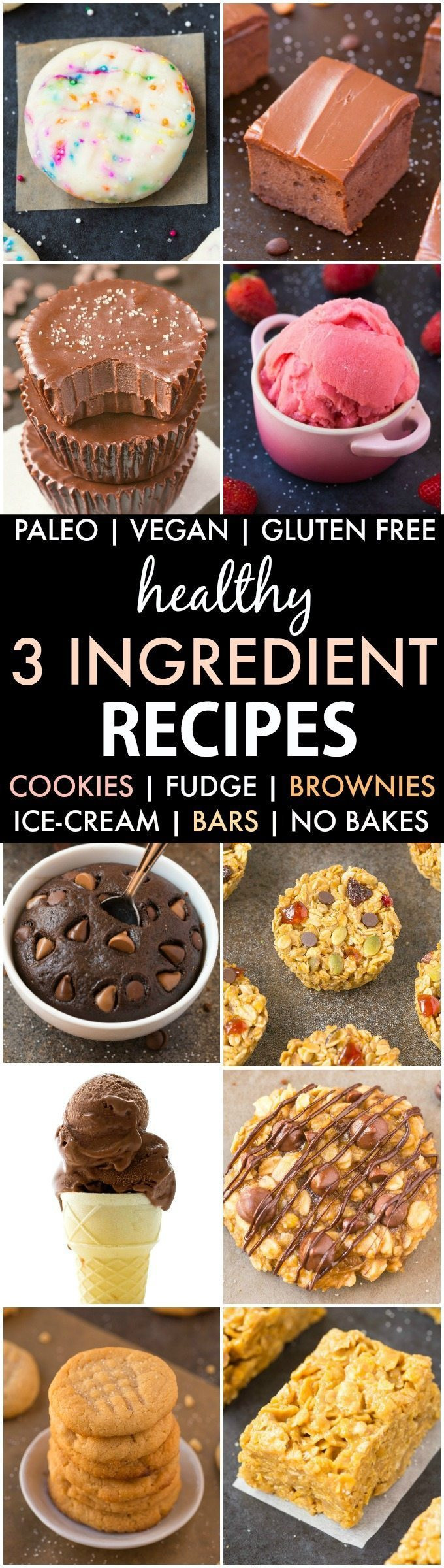 Gluten Free Dessert Recipes With Normal Ingredients  Healthy 3 Ingre nt Snack and Dessert Recipes