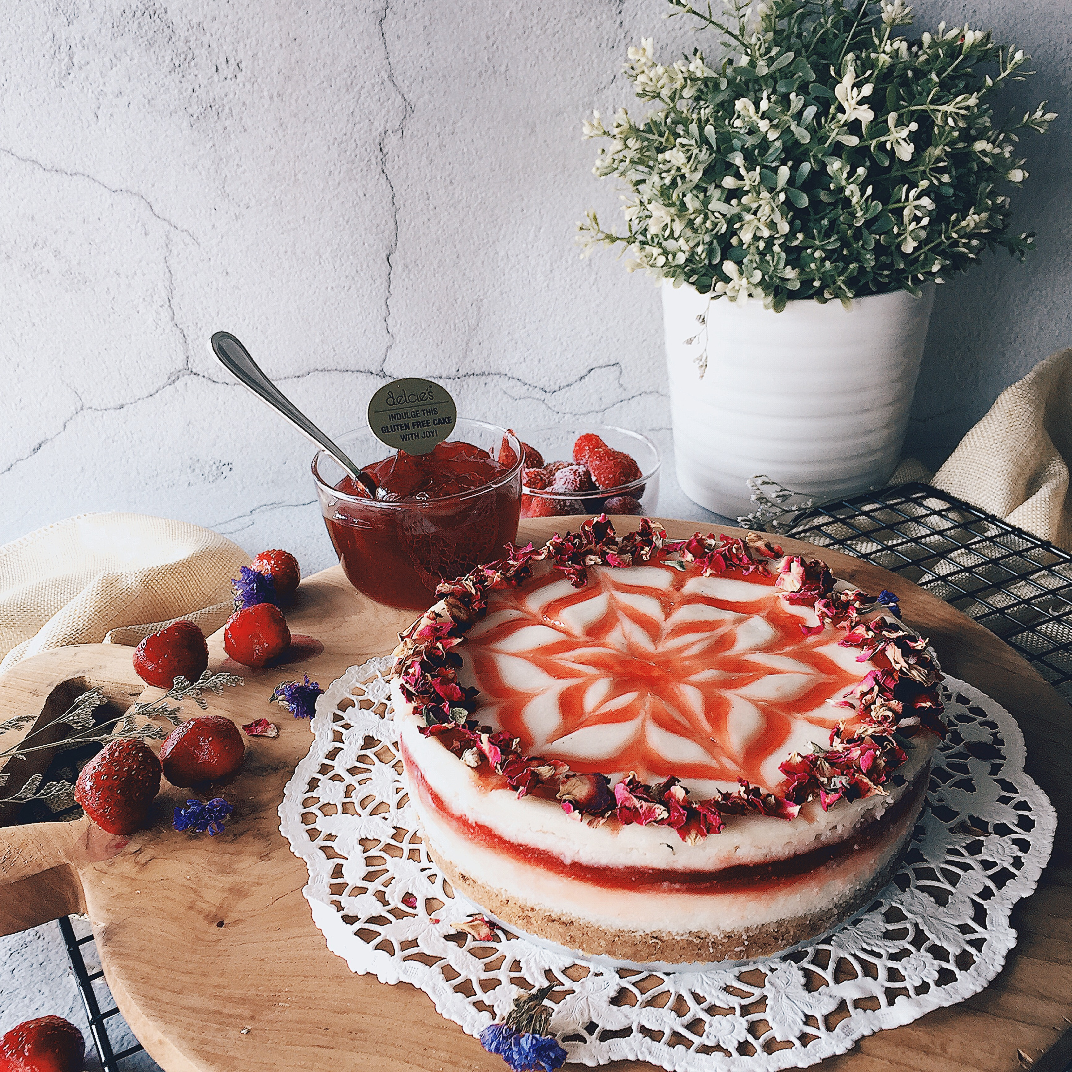 Gluten Free Diabetic Desserts  Strawberry Cheesecake Vegan Diabetic Friendly Gluten