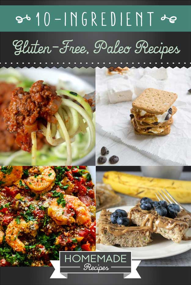 Gluten Free Diet Recipes  29 10 Ingre nt Gluten Free Paleo Diet Recipes