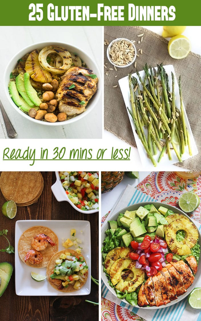 Gluten Free Dinners  25 Gluten Free Dinner Recipes in Under 30 Minutes The
