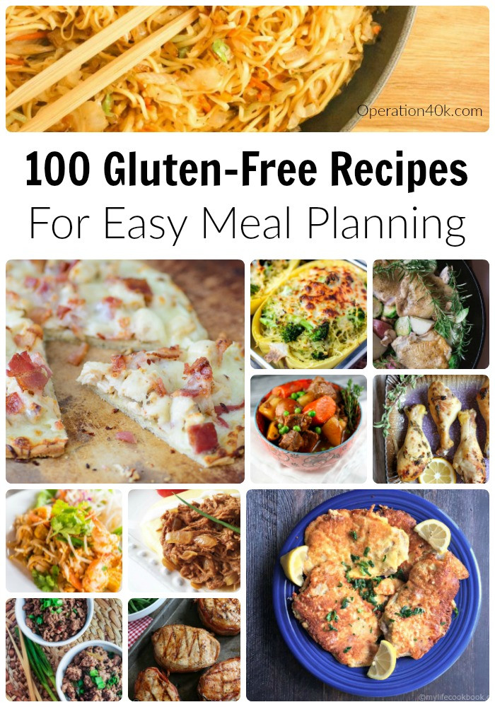 Gluten Free Food Recipes  100 Gluten Free Recipes For Meal Planning Operation $40K