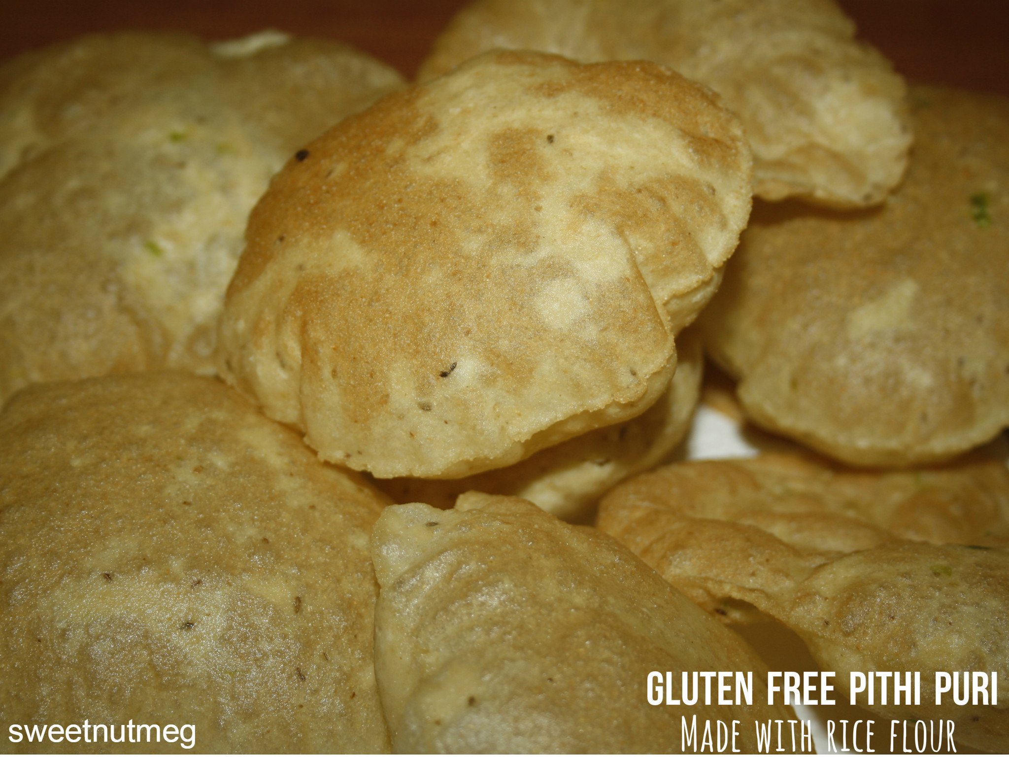 Gluten Free Indian Bread  Gluten Free Pithi Puri Another Indian Flat Bread