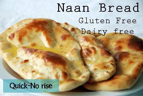 Gluten Free Indian Bread  Gluten Free Naan Bread Quick No Rise