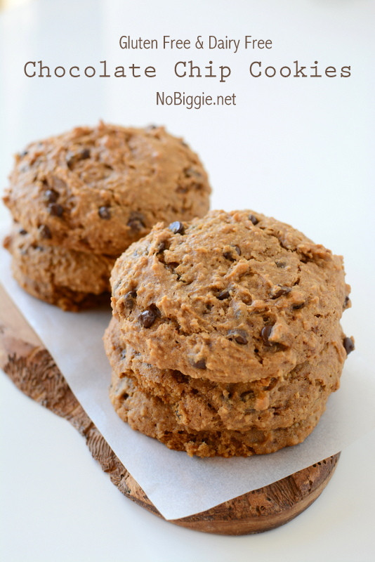 Gluten Free Oatmeal Chocolate Chip Cookies  Gluten Free and Dairy Free Oatmeal Chocolate Chip Cookies