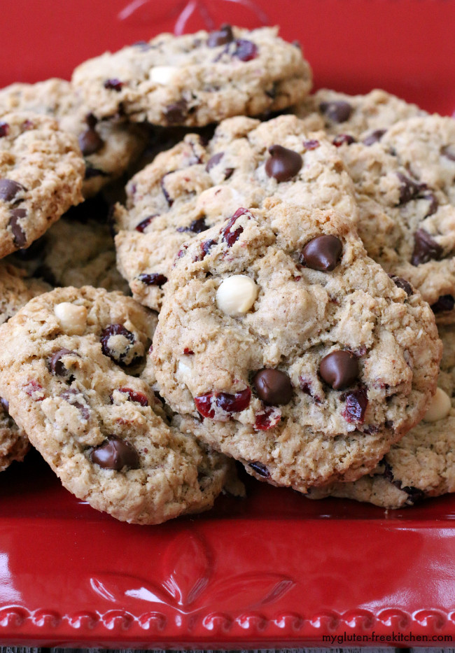 Gluten Free Oatmeal Chocolate Chip Cookies  Gluten free Oatmeal Cranberry Chocolate Chip Cookies