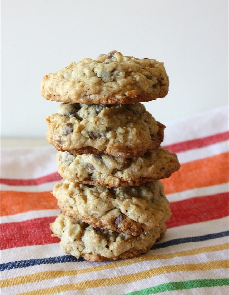 Gluten Free Oatmeal Chocolate Chip Cookies  A Big MouthfulGluten Free Oatmeal Chocolate Chip Cookies