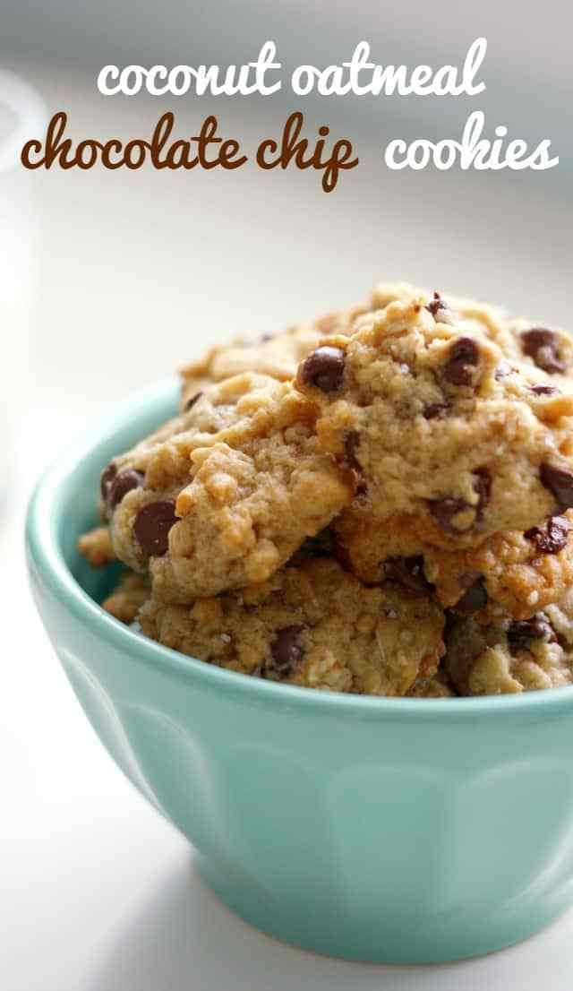 Gluten Free Oatmeal Chocolate Chip Cookies  Gluten Free Coconut Oatmeal Chocolate Chip Cookies The
