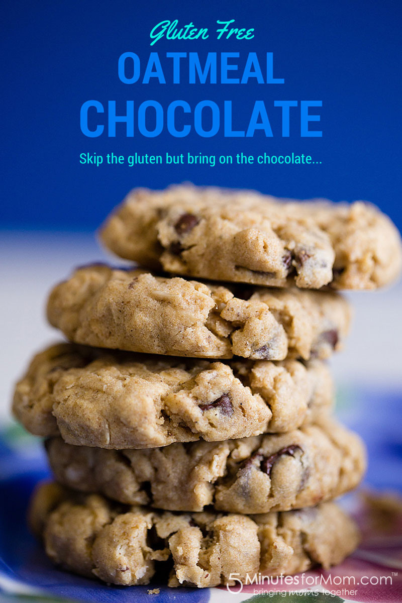 Gluten Free Oatmeal Chocolate Chip Cookies  Gluten Free Oatmeal Chocolate Chip Cookies Recipe