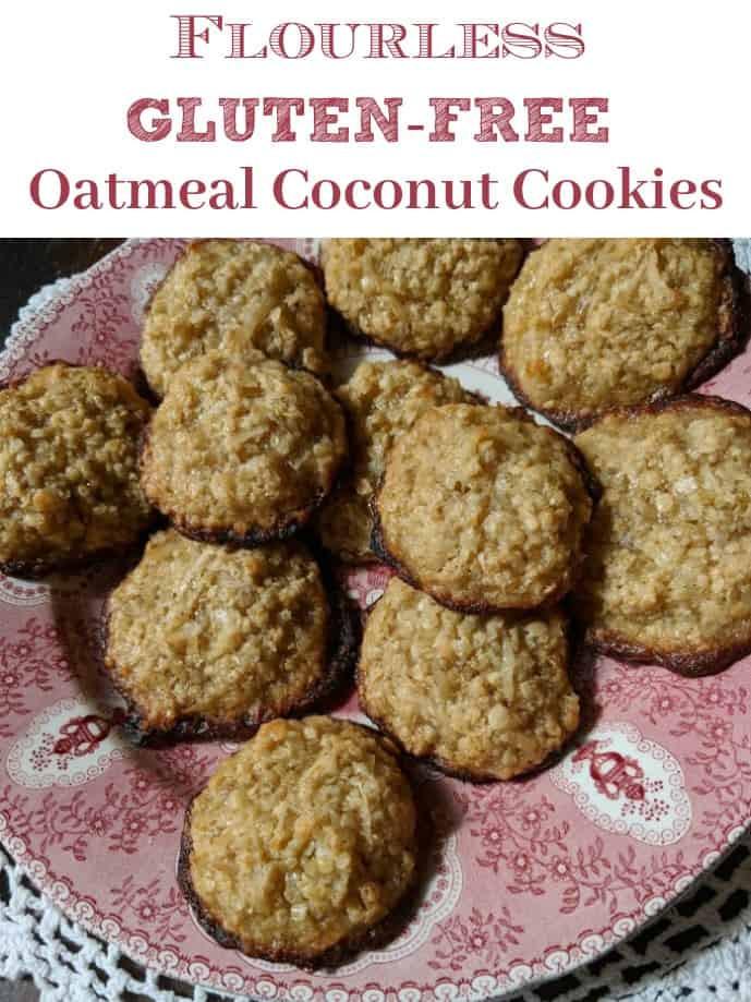 Gluten Free Oatmeal Coconut Cookies  Flourless Gluten Free Oatmeal Coconut Cookies Recipe