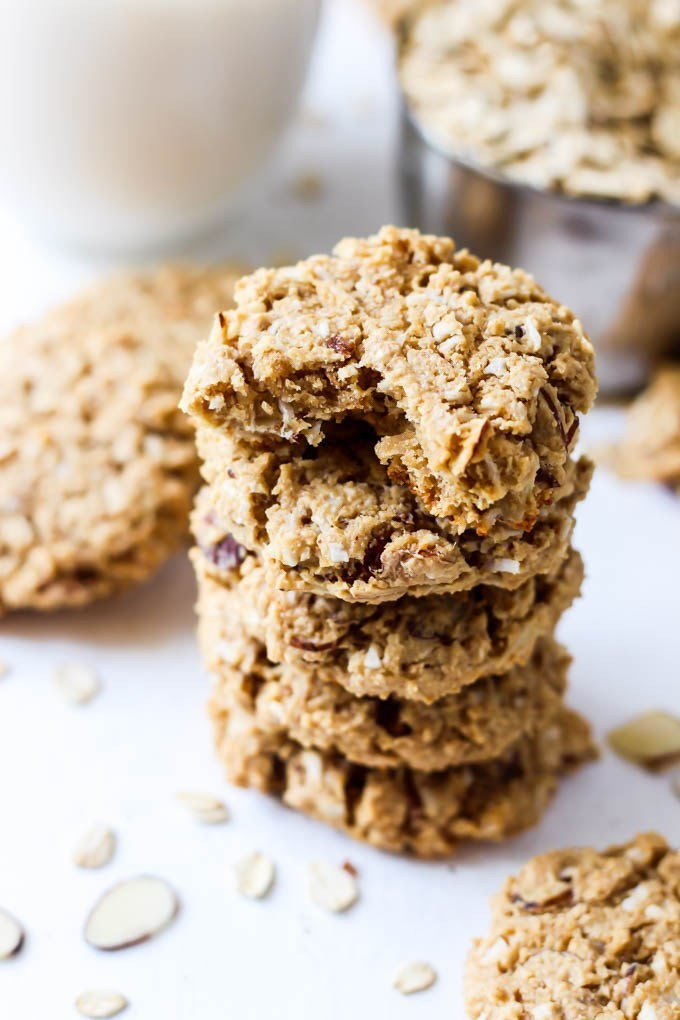 Gluten Free Oatmeal Coconut Cookies  Almond Coconut Oatmeal Cookies vegan & gluten free