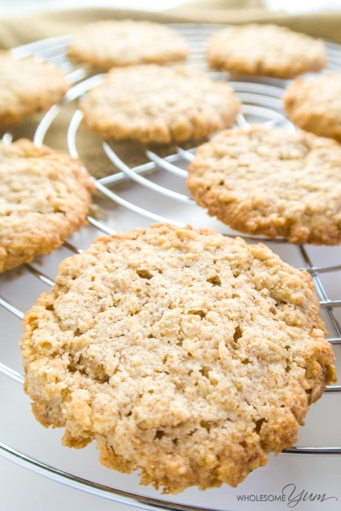 Gluten Free Oatmeal Cookies  Sugar free Oatmeal Cookies Low Carb Gluten free