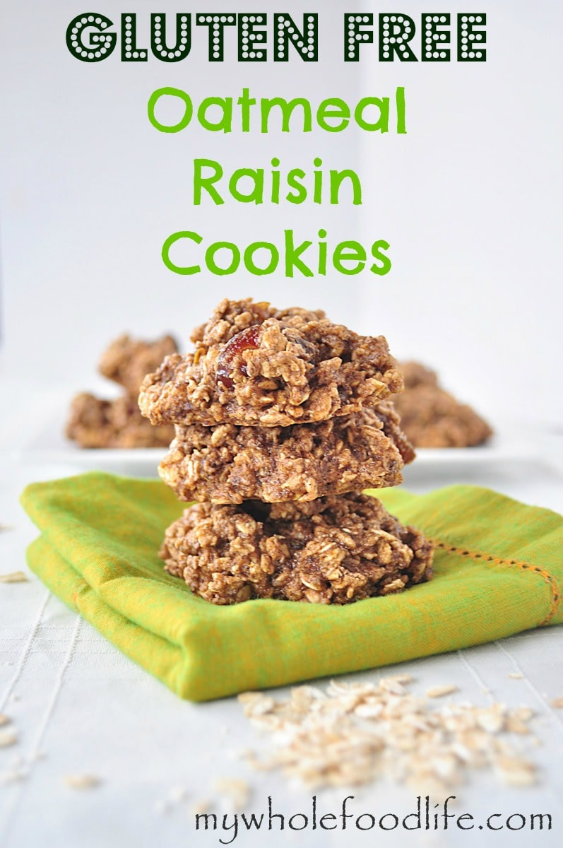Gluten Free Oatmeal Cookies  Gluten Free Oatmeal Raisin Cookies My Whole Food Life