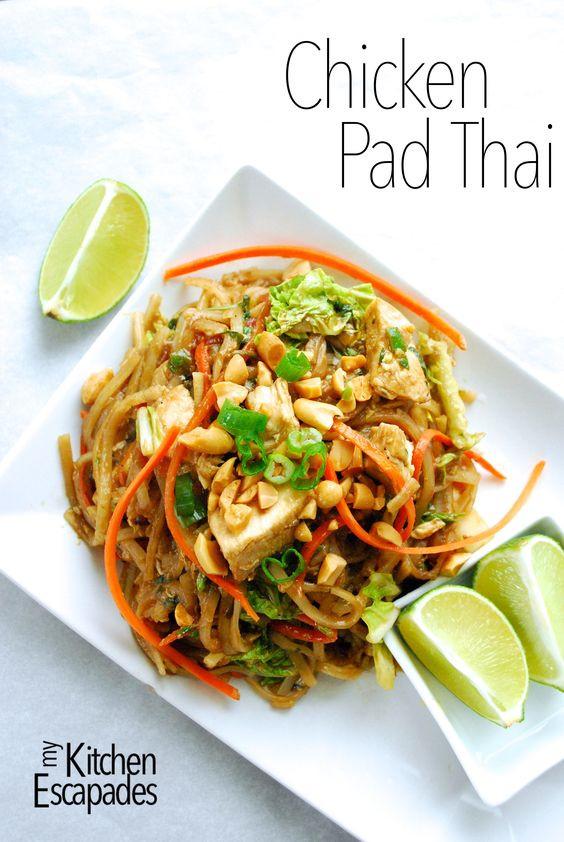 Gluten Free Pad Thai Recipe  Chicken Pad Thai Recipe Pinterest