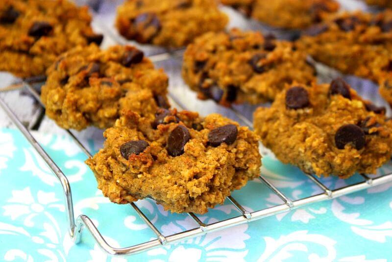 Gluten Free Pumpkin Oatmeal Cookies  Gluten Free Chocolate Chip Pumpkin Oatmeal Cookies