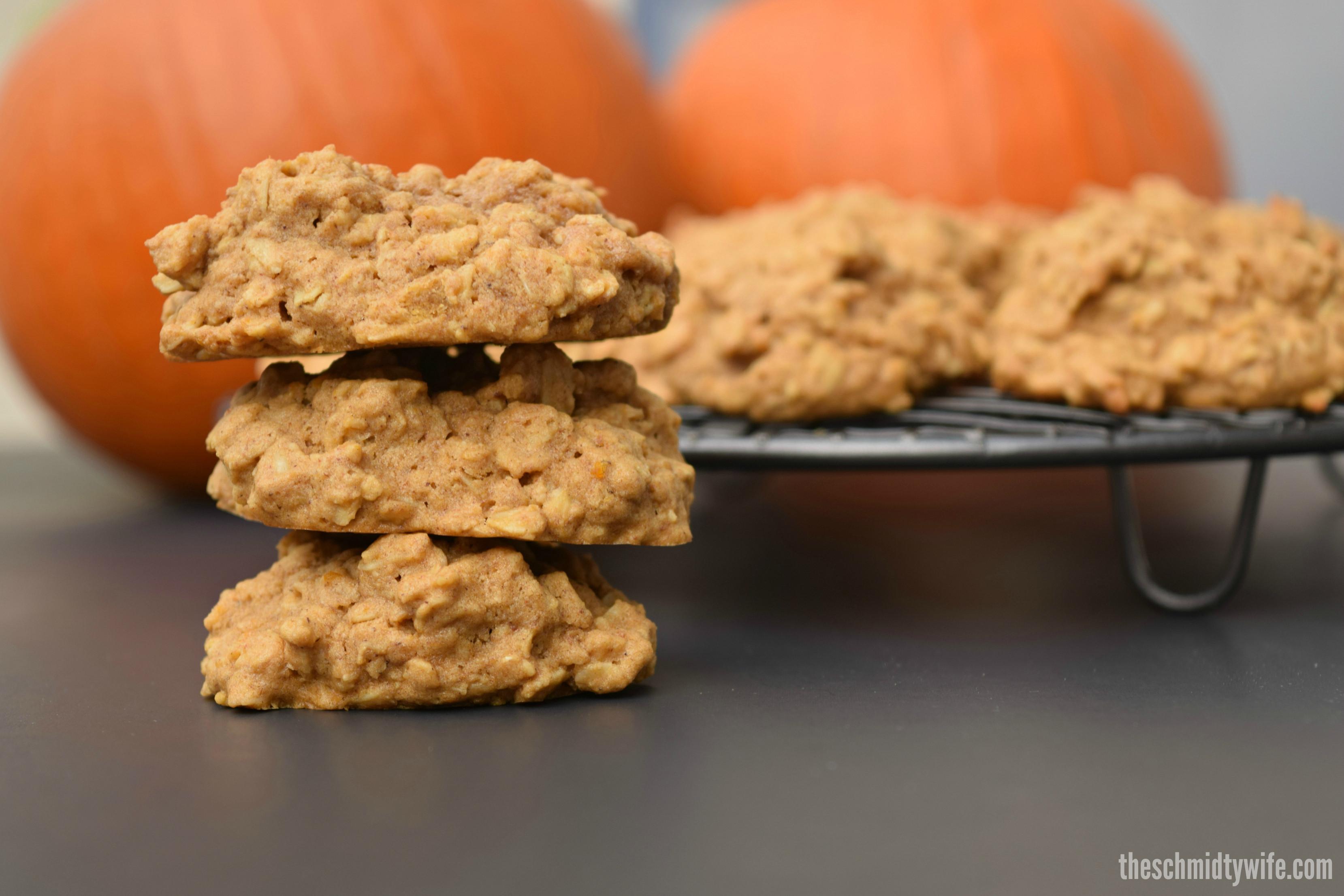 Gluten Free Pumpkin Oatmeal Cookies  Gluten Free Pumpkin Oatmeal Cookies The Schmidty Wife