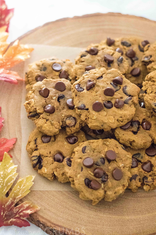 Gluten Free Pumpkin Oatmeal Cookies  Gluten Free Pumpkin Oatmeal Chocolate Chip Cookies
