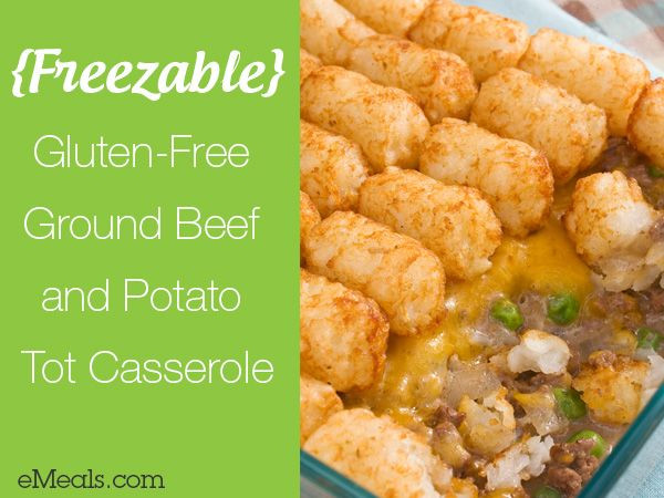Gluten Free Recipes With Ground Beef  Check out Gluten Free Ground Beef and Potato Tot Casserole