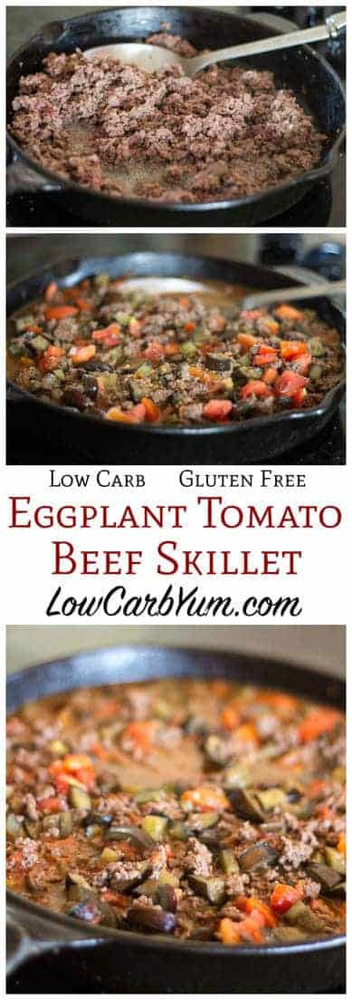 Gluten Free Recipes With Ground Beef  Eggplant Tomato Ground Beef Skillet