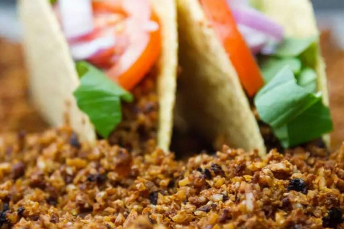 Gluten Free Recipes With Ground Beef  Cauliflower and Walnut Ground Meat [Vegan Gluten Free