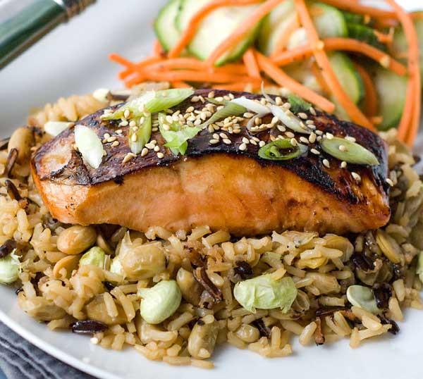 Gluten Free Salmon Recipes  Gluten Free Asian Glazed Salmon with Edamame Rice Recipes