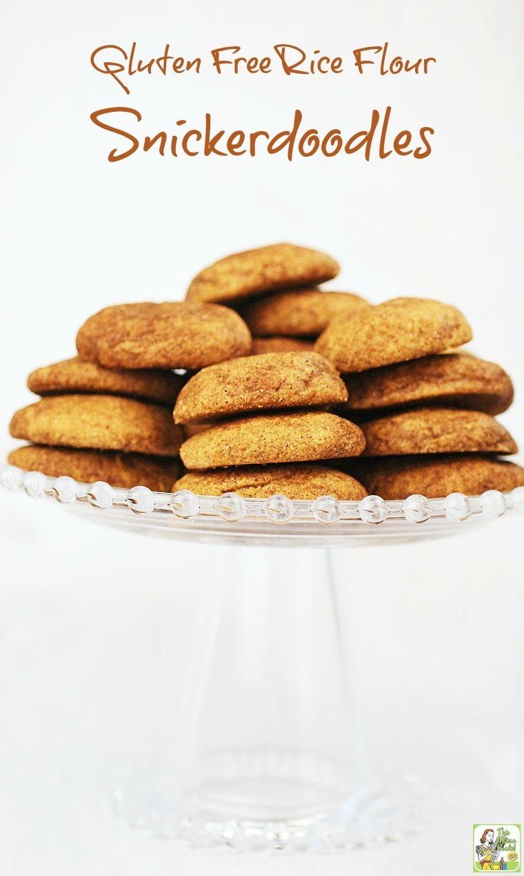 Gluten Free Snickerdoodles Recipe  Gluten Free Rice Flour Snickerdoodles