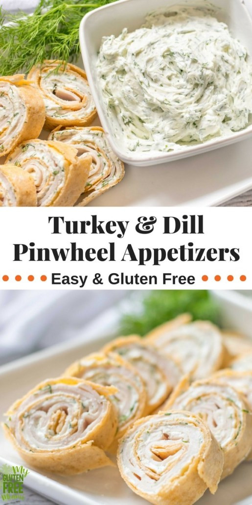 Gluten Free Thanksgiving Appetizers  Turkey and Dill Gluten Free Pinwheel Appetizers