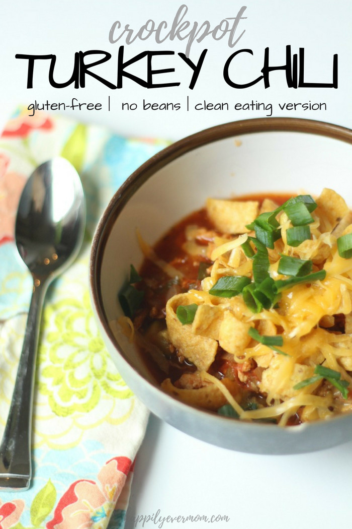 Gluten Free Turkey Chili  Crockpot Turkey Chili Gluten Free No Beans Clean