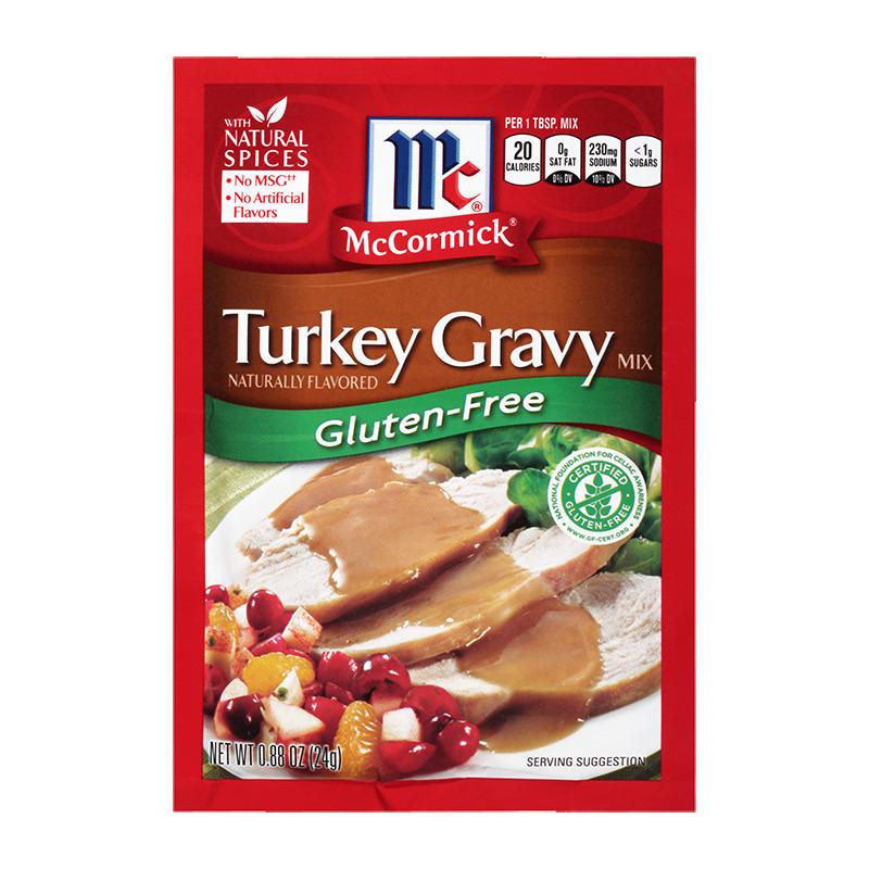 Gluten Free Turkey Gravy  McCormick Gluten Free Turkey Gravy Mix