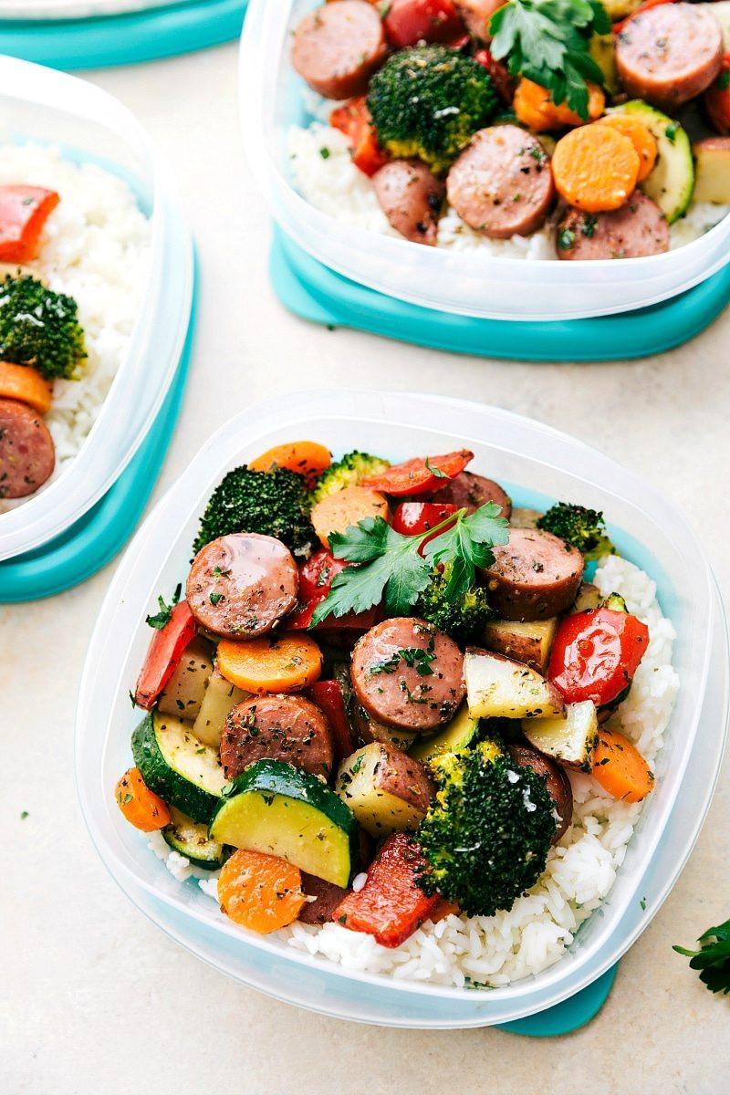 Good Healthy Dinners  e Pan Healthy Italian Sausage & Veggies Chelsea s