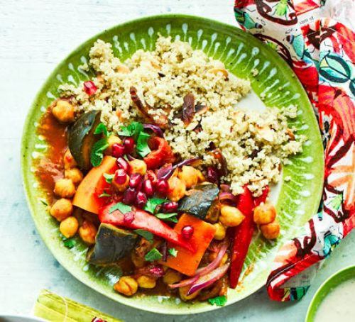 Good Healthy Dinners  Ve able tagine with apricot quinoa recipe