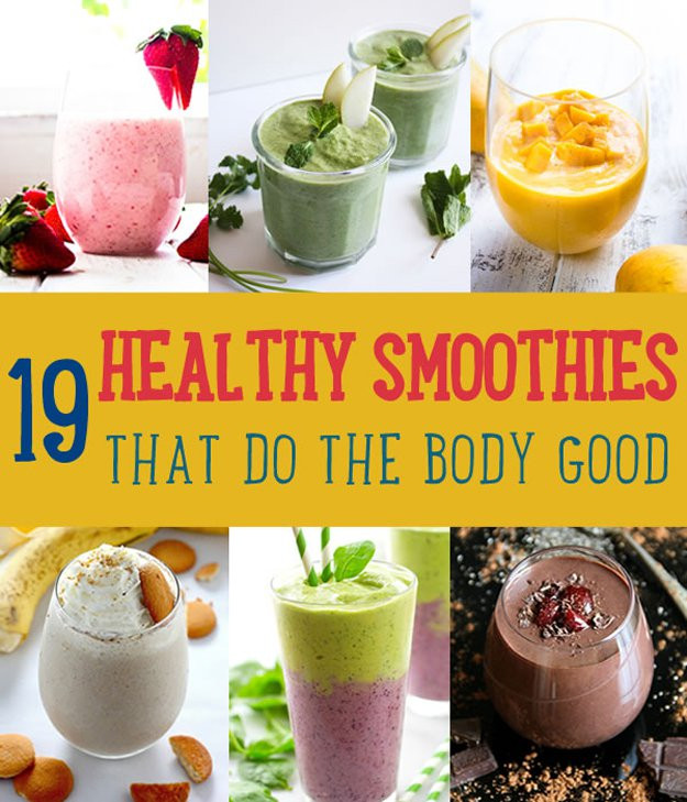 Good Healthy Smoothies  Healthy Smoothie Recipes DIY Projects Craft Ideas & How To