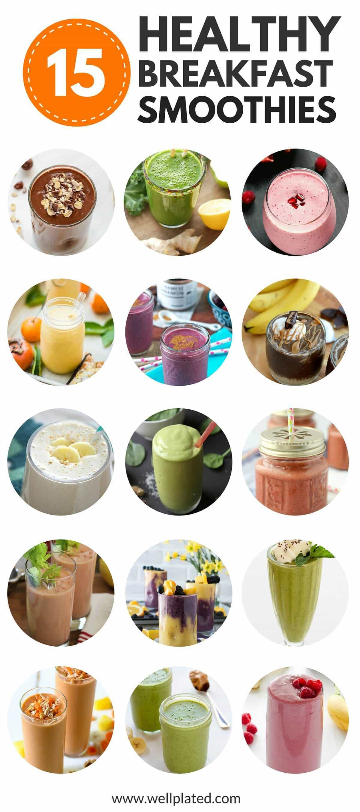 Good Healthy Smoothies  The Best 15 Healthy Breakfast Smoothies