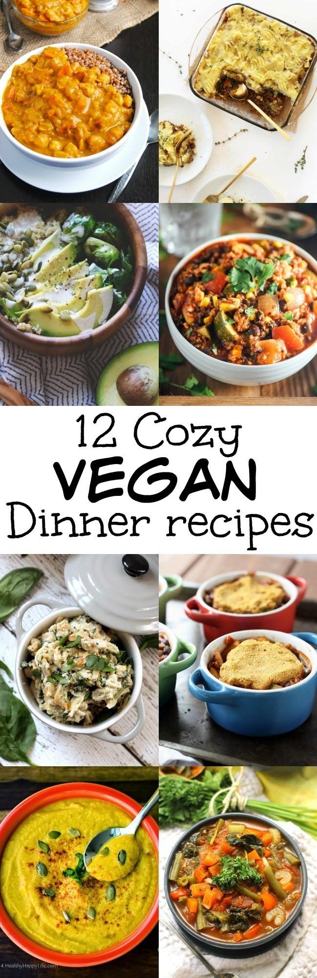 Good Vegan Dinners  12 Cozy Feel Good Vegan Dinner Recipes