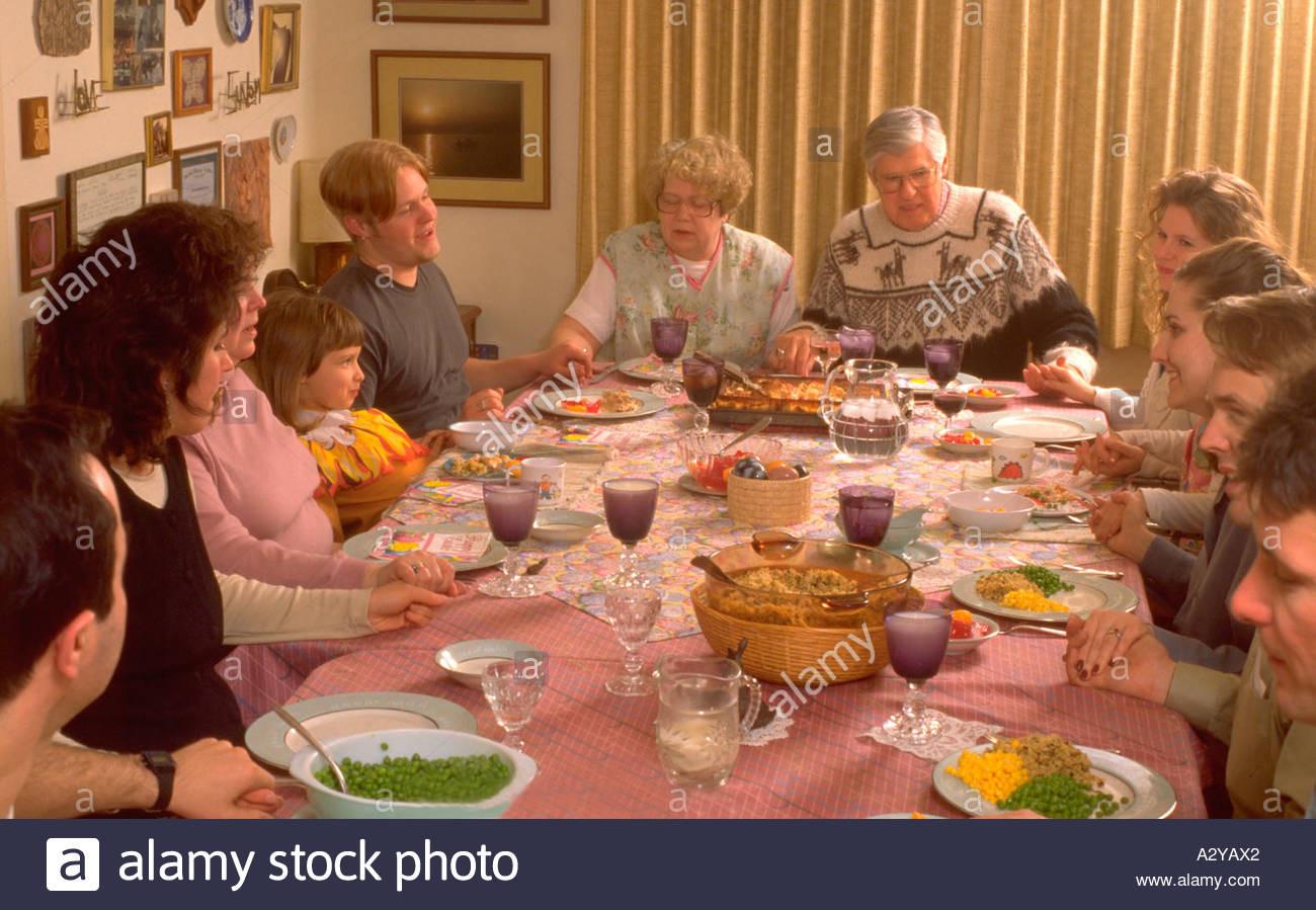 Grace For Easter Dinner  Family Meal Home Table America Stock s & Family Meal