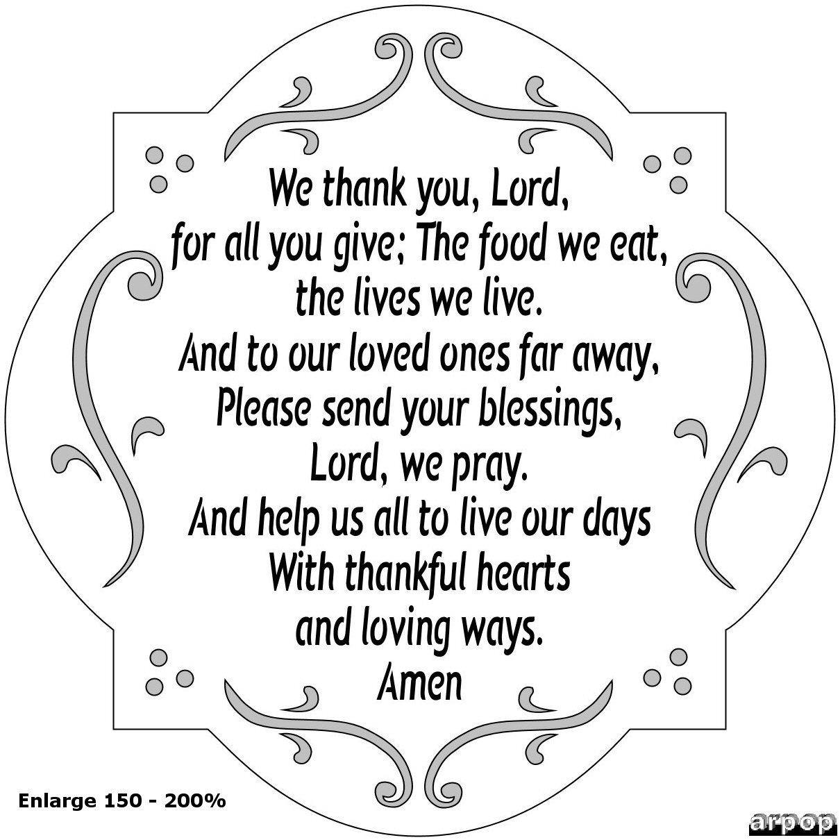 Grace For Easter Dinner  A Thanksgiving Prayer Crafts Pinterest