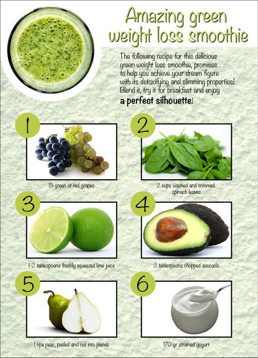 Green Smoothie Recipes For Weight Loss  detox smoothie recipes for weight loss